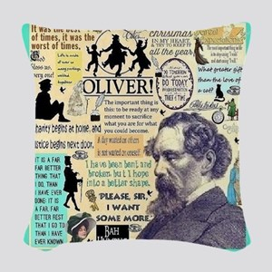 Dickens Woven Throw Pillow